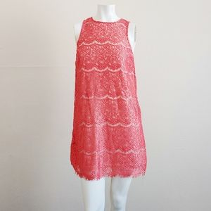 Bleuh Ciel Sleeveless Lace Sheath Dress SZ XS